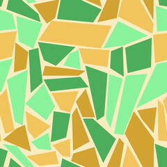 Quadrilaterals of different shapes, sizes and colors. Seamless pattern for any use.