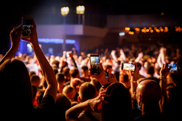 Smartphones on a music concert.