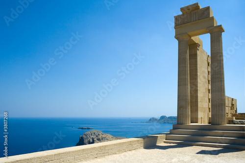 Temple of Athena Lindia at Lindos, Rhodes, Greece