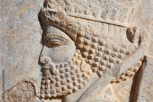 Płaskorzeźba perskiego żołnierza z Persepolis