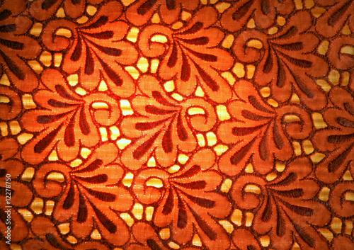 Tło - haftowana tkanina