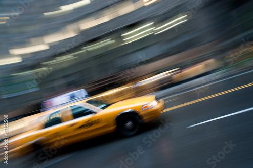 NYC taxi cab panning