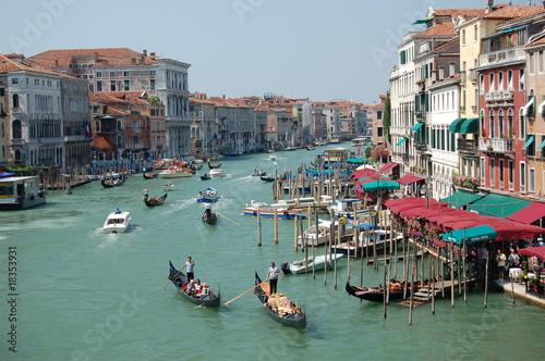 Widok na Canal Grande w Wenecji