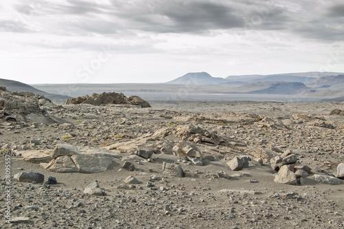 Zimna pustynia na Islandii