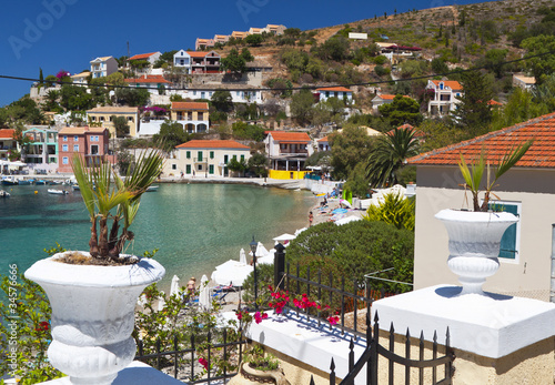 Traditional fishing village of Assos at Kefalonia in Greece