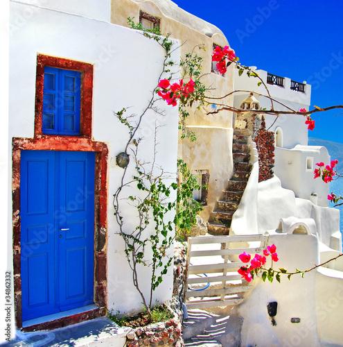 seria tradycyjnych wysp greckich - santorini