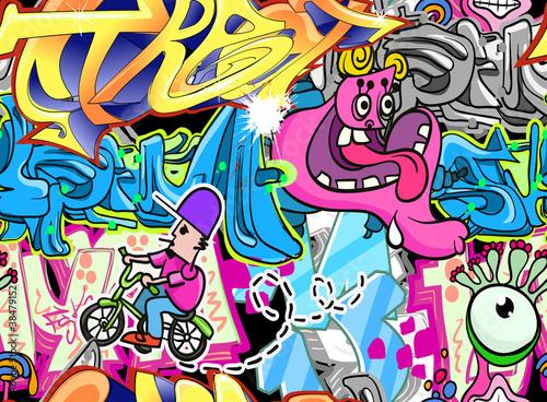 Graffiti Urban Art Vector Background