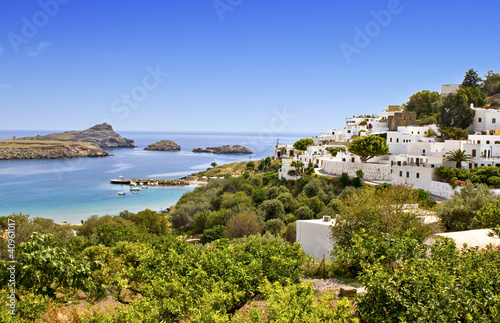 Traditional village of Lindos at Rhodes island, Greece