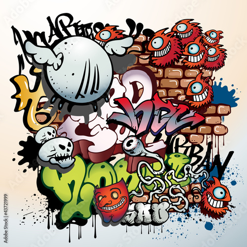 elementy sztuki miejskiej graffiti