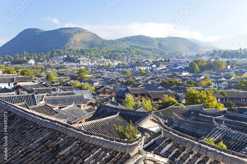 Stare miasto Lijiang w godzinach porannych, światowe dziedzictwo UNESCO w Yu
