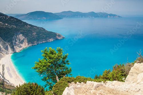 Myrtos Beach, Kefalonia Island, Grecja