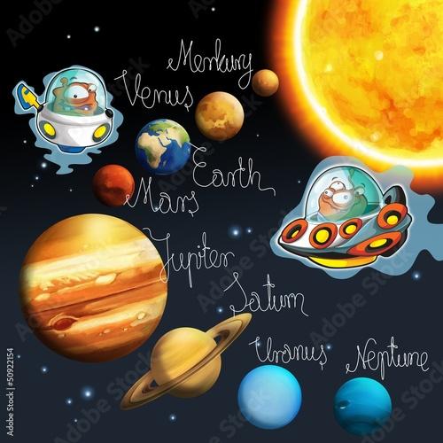 Motyw kosmitów - ufo - dla dzieci