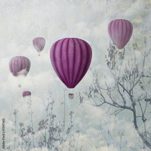 Różowe balony