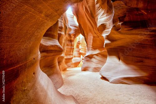 Widok Kanion Antylopy z promieni świetlnych
