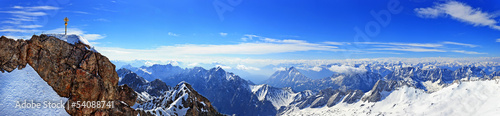 Panorama view from Zugspitze top of Germany