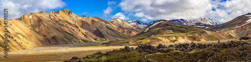 Panorama Landmannalaugar, Highlands, Islandia