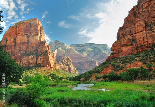 Zion Canyon, z dziewiczą rzeką