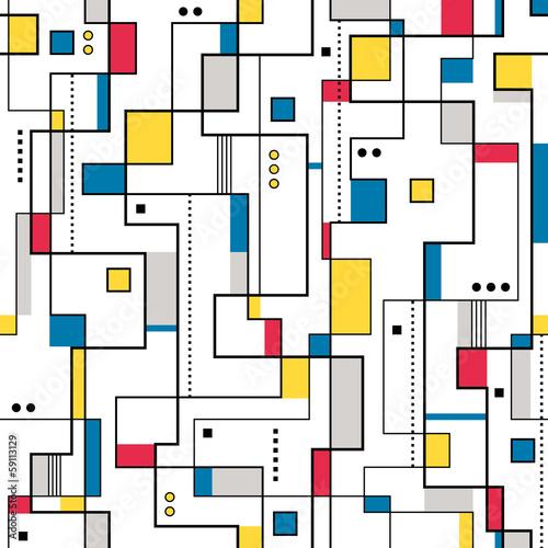 żółty czerwony i niebieski abstrakcyjny wzór
