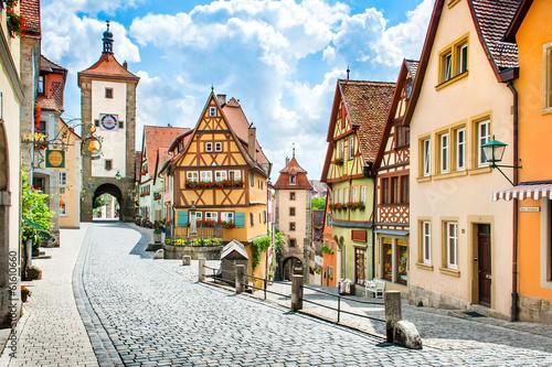 Średniowieczne miasteczko Rothenburg ob der Tauber, Bawaria, Niemcy