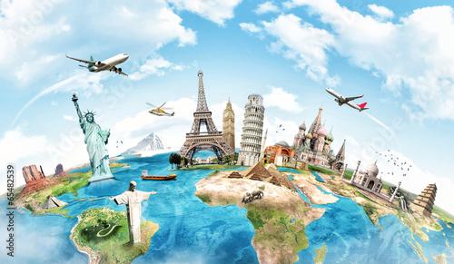 Podróżuj po koncepcji pomnika świata