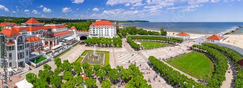 Panorama Sopotu z molo na Morzu Bałtyckim, Polska