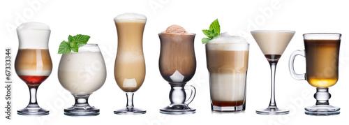 Kolekcja koktajli kawowych