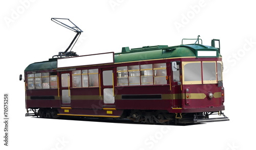 isolated tram