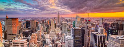 Krajobraz Nowego Jorku z drapaczami chmur