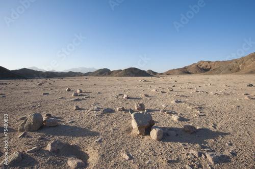 Skalisty pustynia krajobraz z górami