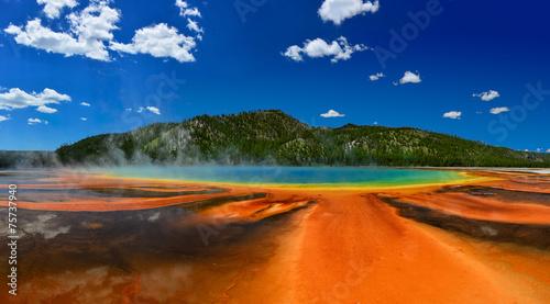 Grand Prismatic Spring w Parku Narodowym Yellowstone