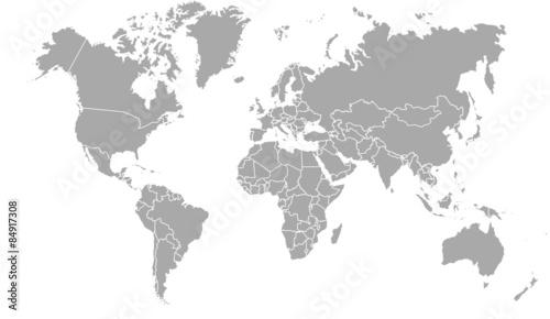 carte du monde avec frontières 11062015