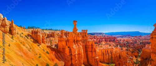 Panoramiczny widok piękny Bryka jaru park narodowy, Utah, usa