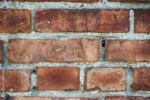 Struktura cegły na ścianie