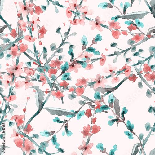 Wzór Kwiaty Pola