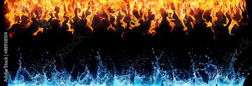 ogień i woda na czarno - przeciwna energia