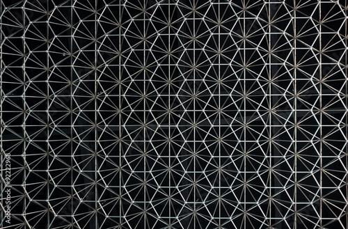 abstrakcyjny wzór metalu w postaci konstrukcji ze stali nierdzewnej.