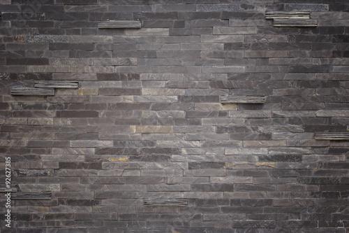 Czarna łupek ściany tekstura i tło