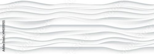 Biały falisty panel tekstura tło.