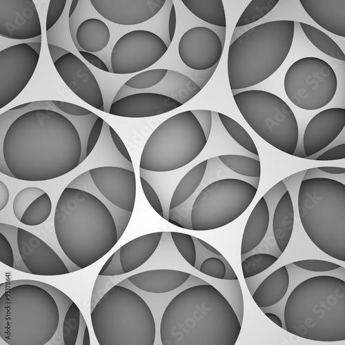 3d wektorowy abstrakcjonistyczny tło, tapetuje warstwową ilustrację z wycinającymi okręgami