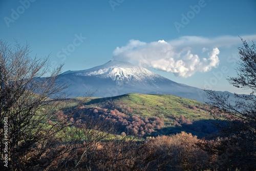 Etna Volcano from Nebrodi Park, Sicily