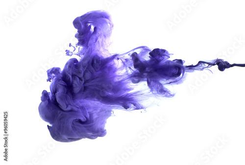 Purple acrylic paint in water..