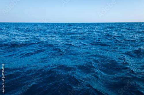 The vast ocean and deep