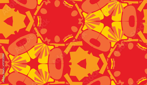 Red and Yellow Wallpaper Pattern