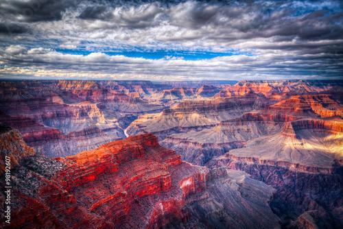 słynny widok Wielkiego Kanionu w Arizonie