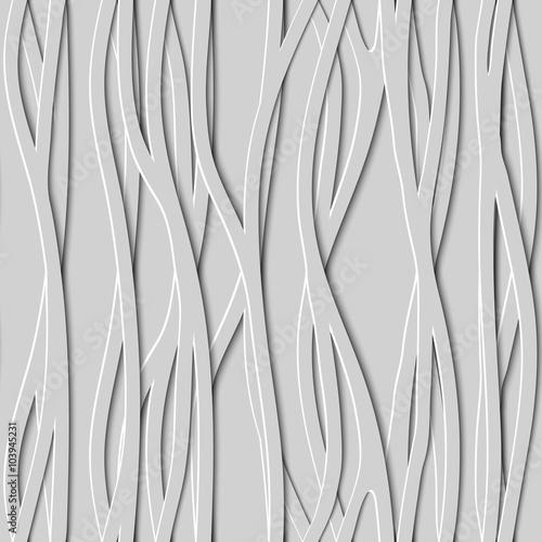 Bezszwowy projekt twórczości 3D tło linie, Wektorowa ilustracja.
