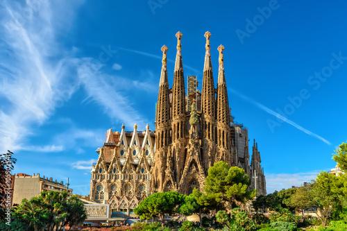 Fasada Narodzenia katedry Sagrada Familia w Barcelonie