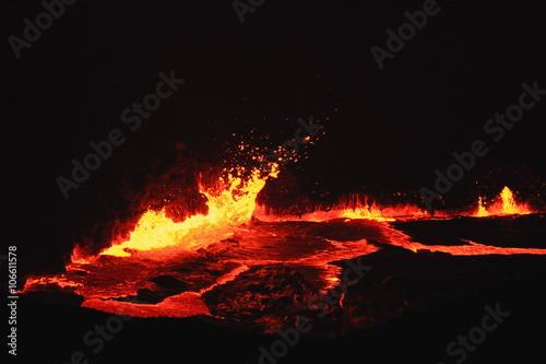 Burning lava lake of Erta Ale volcano-Danakil-Ethiopia. 0229