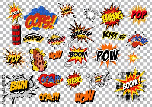 komiks kreskówka wybuch retro pop-artu. Wektor