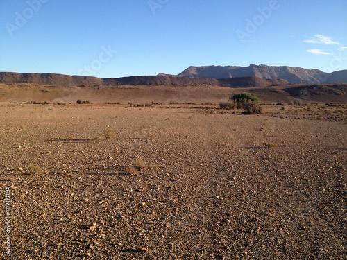 Desert rocailleux du sud marocain