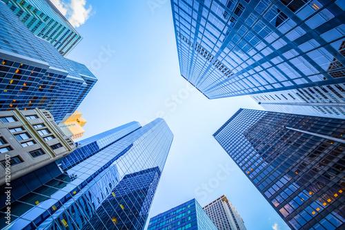 Widok z góry w dzielnicy finansowej, Manhattan, Nowy Jork